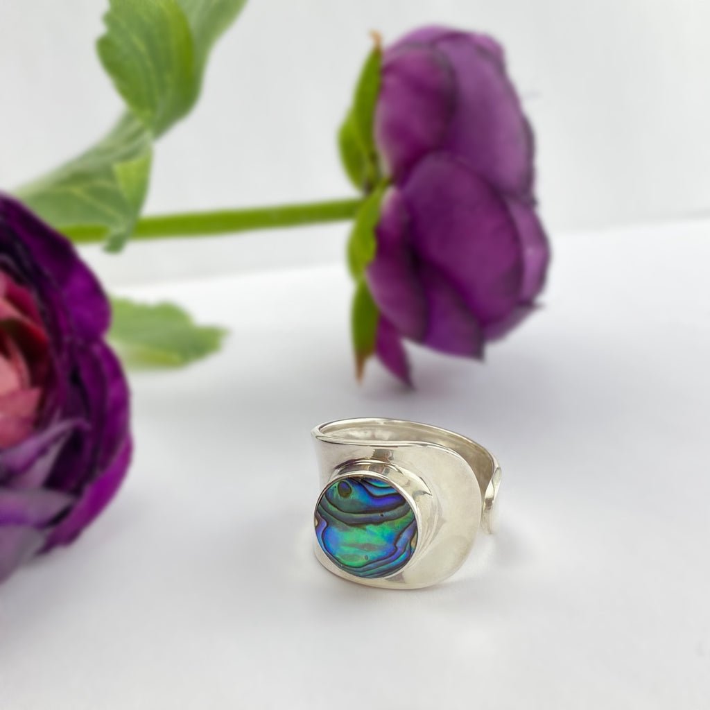 Abalone Wrap Ring - VR475