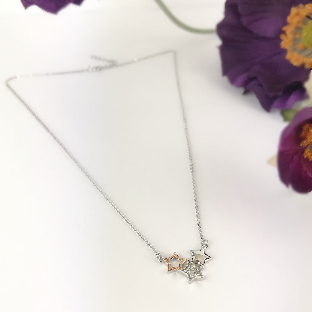 Wishing Stars Necklace - SCHN1014