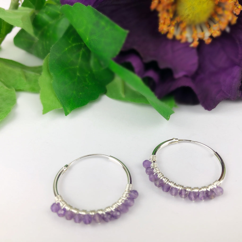 Pansy Purple Hoops - SE4737