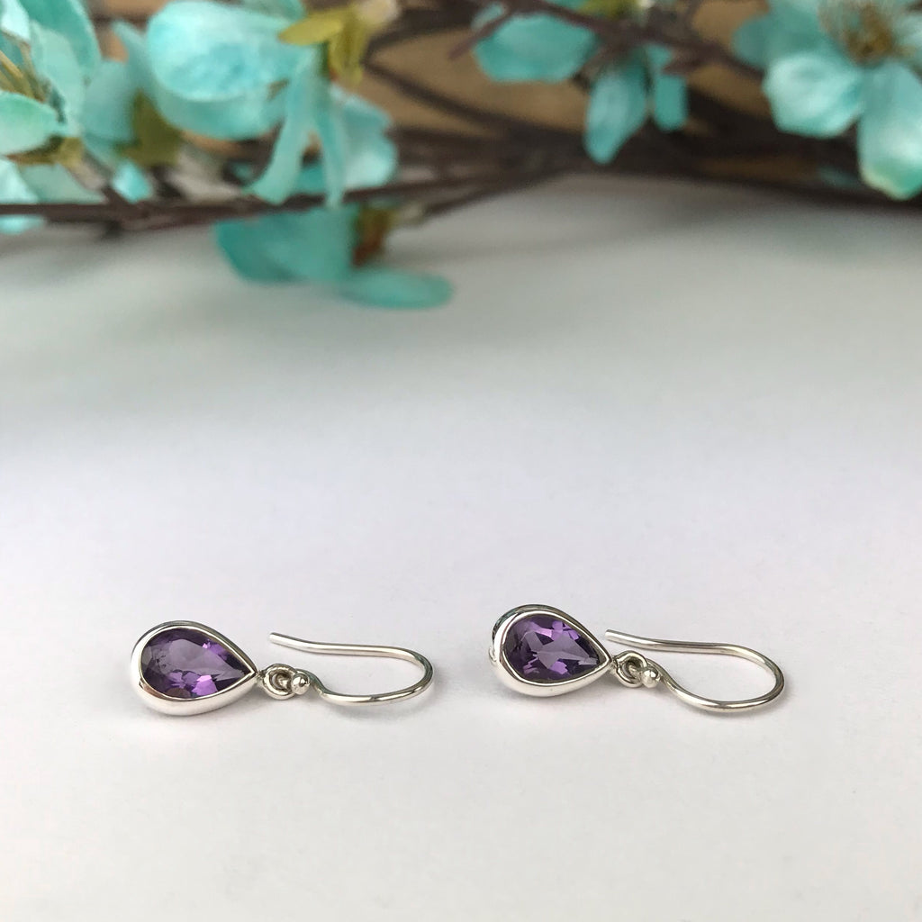Purple Petal Earrings - VE451