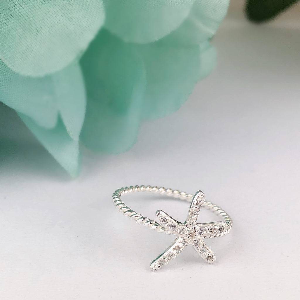 Starfish Sparkle Ring - SR1399