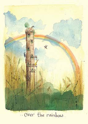 Over the rainbow greetings card - TBM102