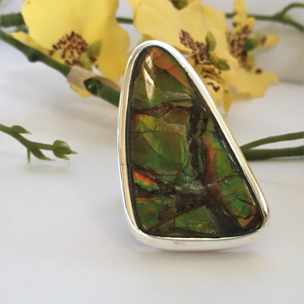Awesome Ammolite Ring - JUR133