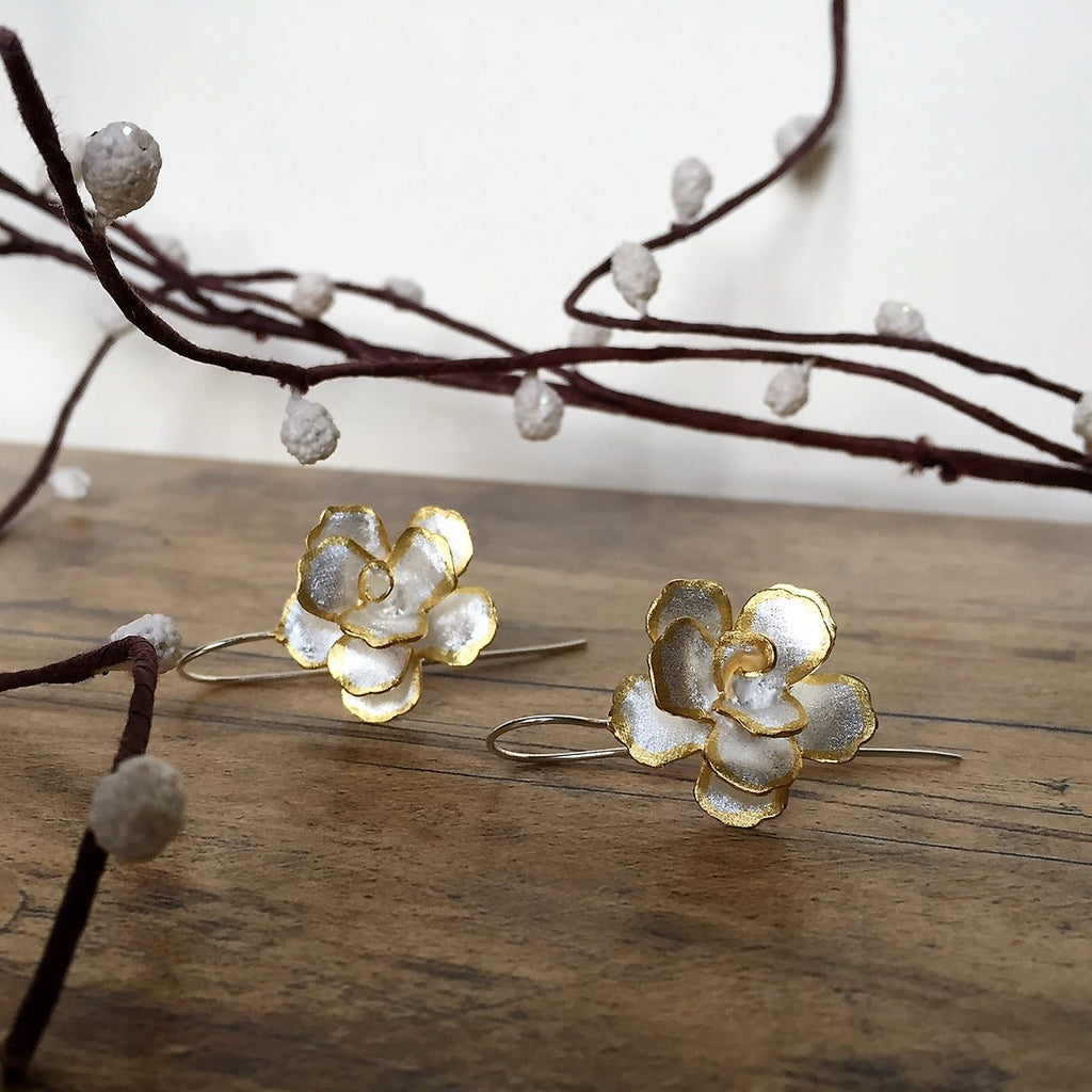 Spring Rose Earrings - VE162