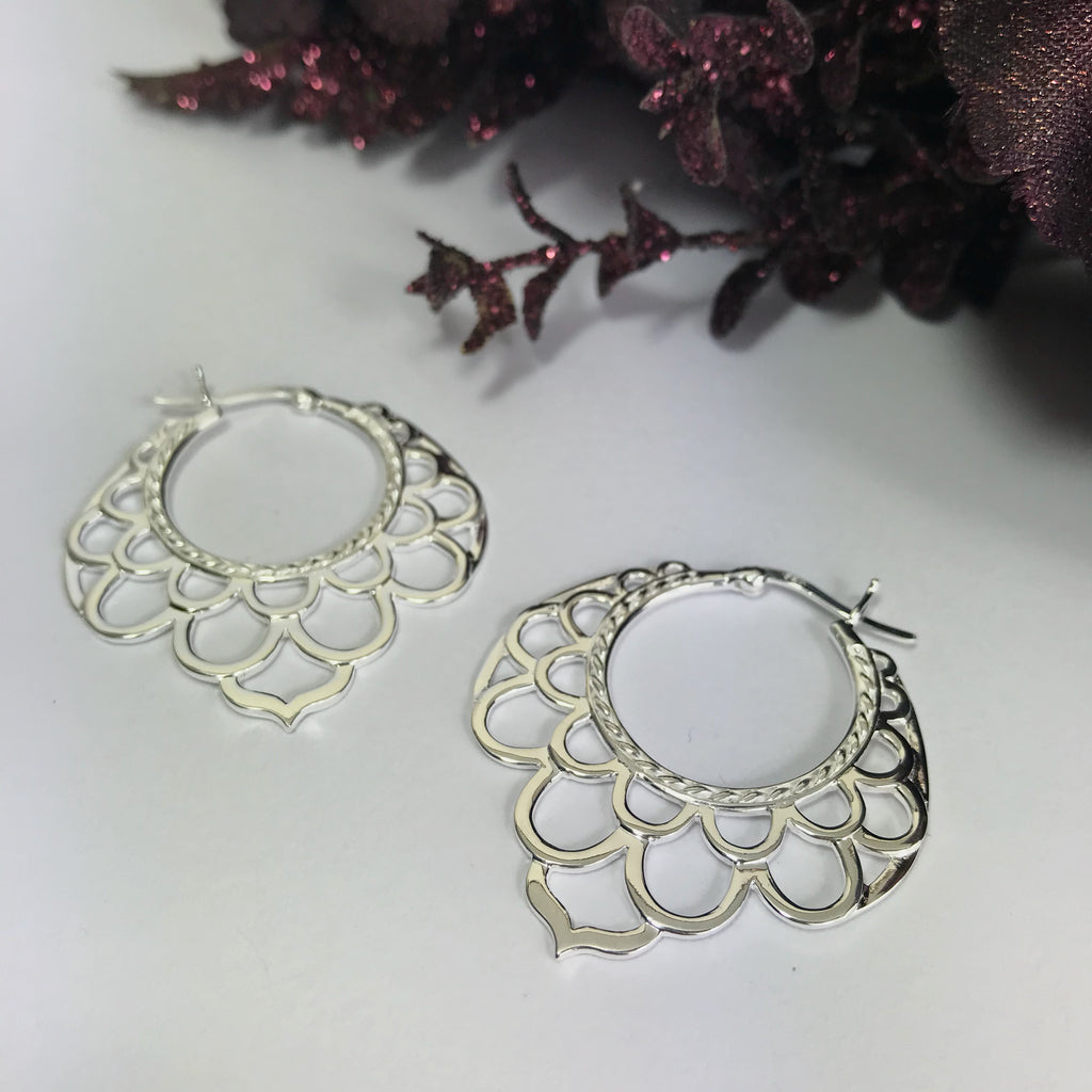 Woodstock Hoop earrings - SE4557