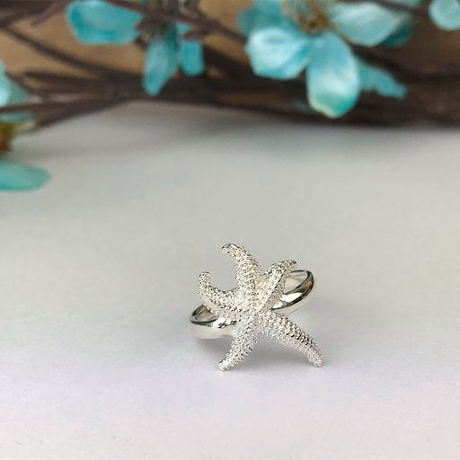 Silver Starfish Ring - VR105