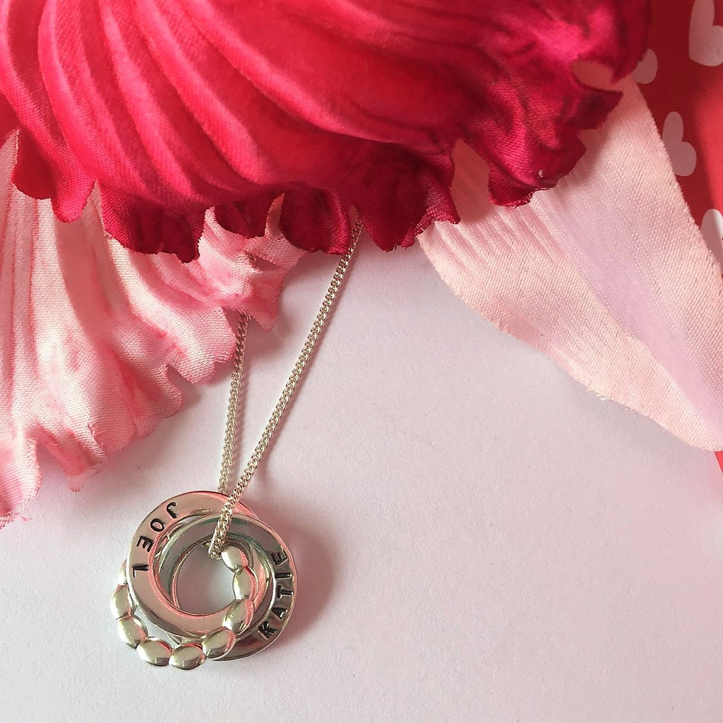 Personalised Intwined Bead Pendant - SPP2303