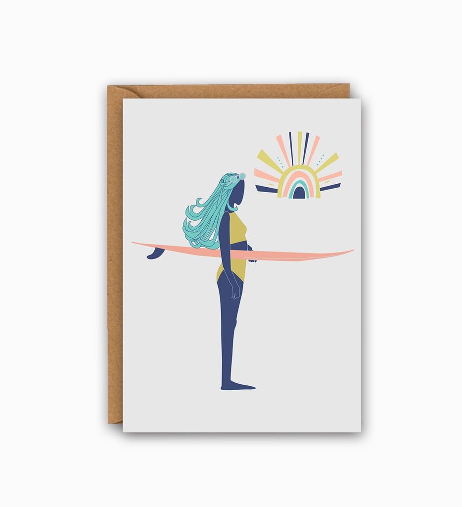 Surf Chick Greetings card