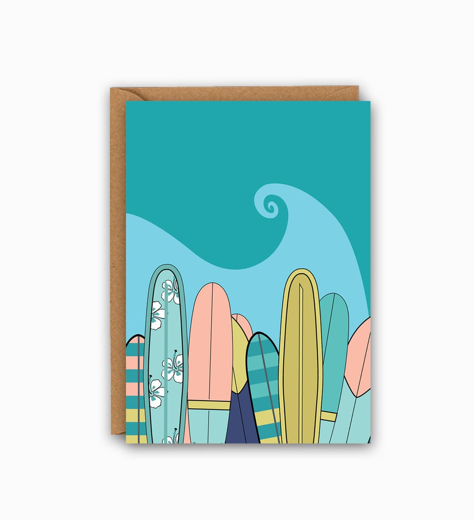 Surfboards Greetings Card