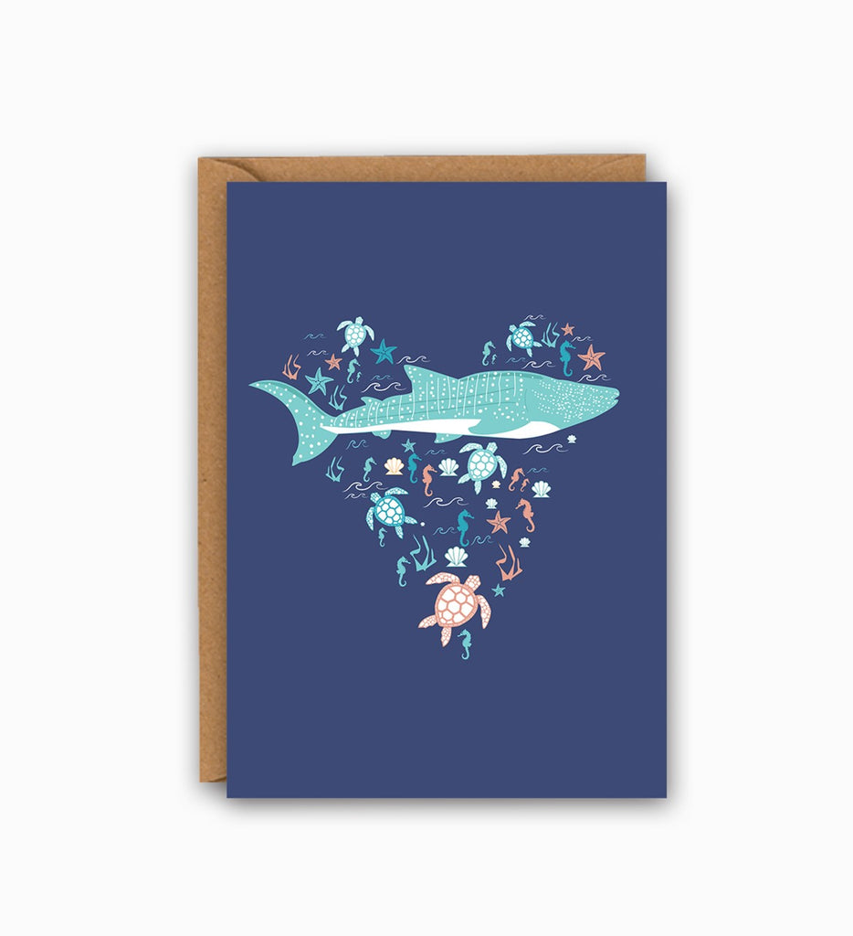 Ocean Life Greetings card
