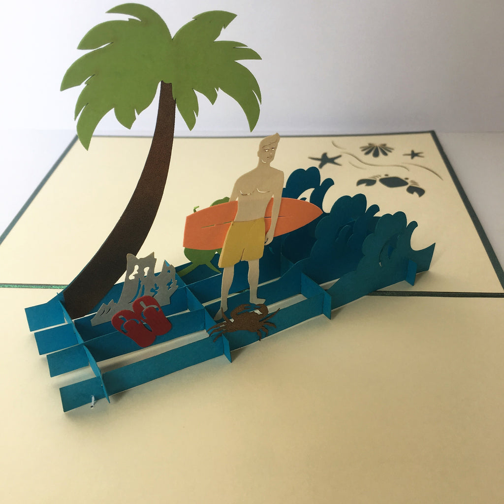 Surf's Up Pop up Card - TJX4