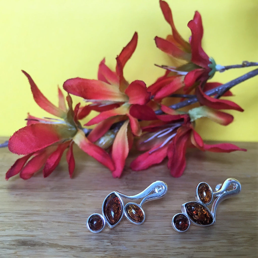 Amber Leaf Earrings - VAE105