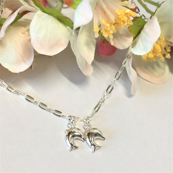 Dancing Dolphins Anklet - VANK115