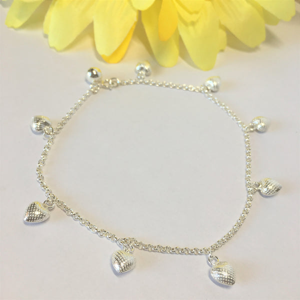 Strawberry Hearts Anklet - VANK124