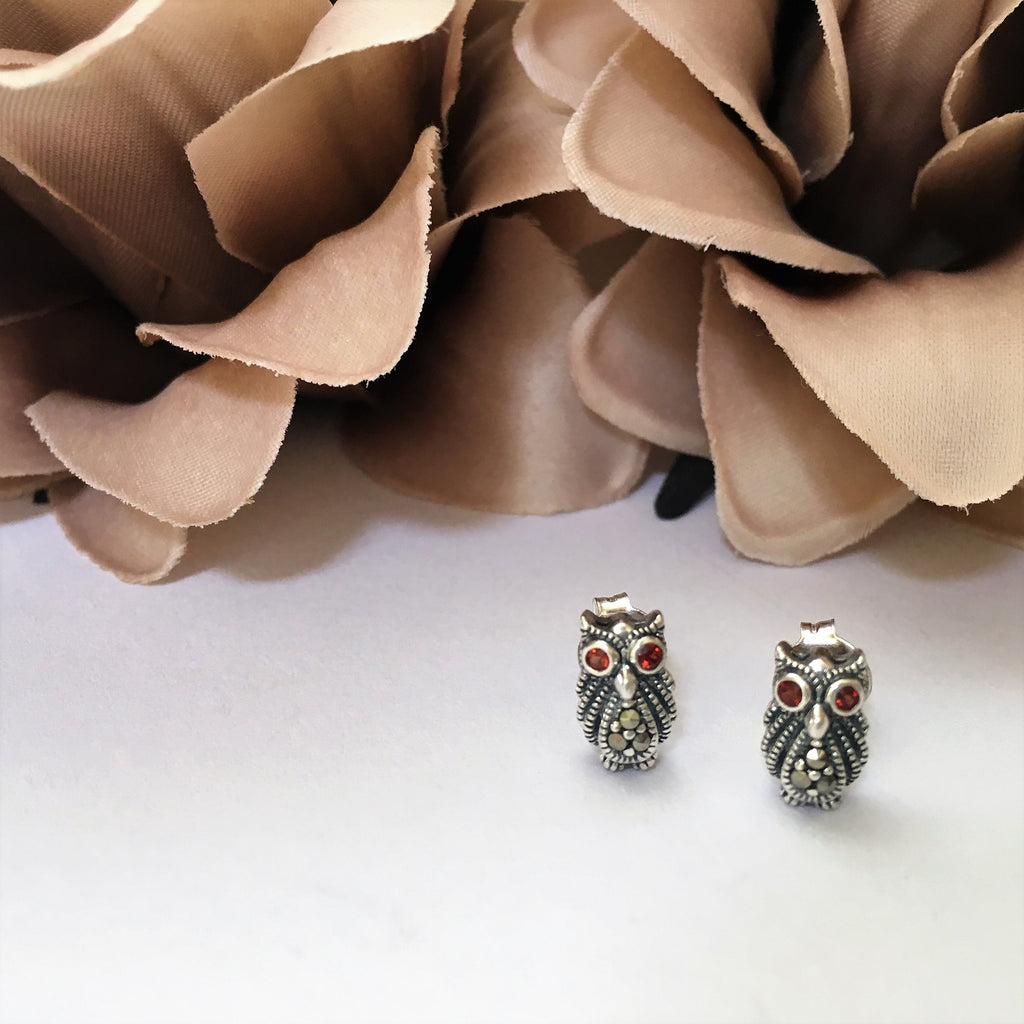 Ancient Owl Stud Earrings - VE266