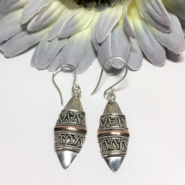 Tribal Gold Earrings - VE355