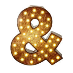 Ampersand luminoso