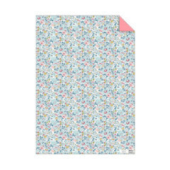 papel regalo flores liberty azul