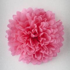 pompón de papel seda rosa chicle