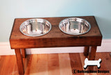 Traditional Double Bowl Feeder with Legs - Large