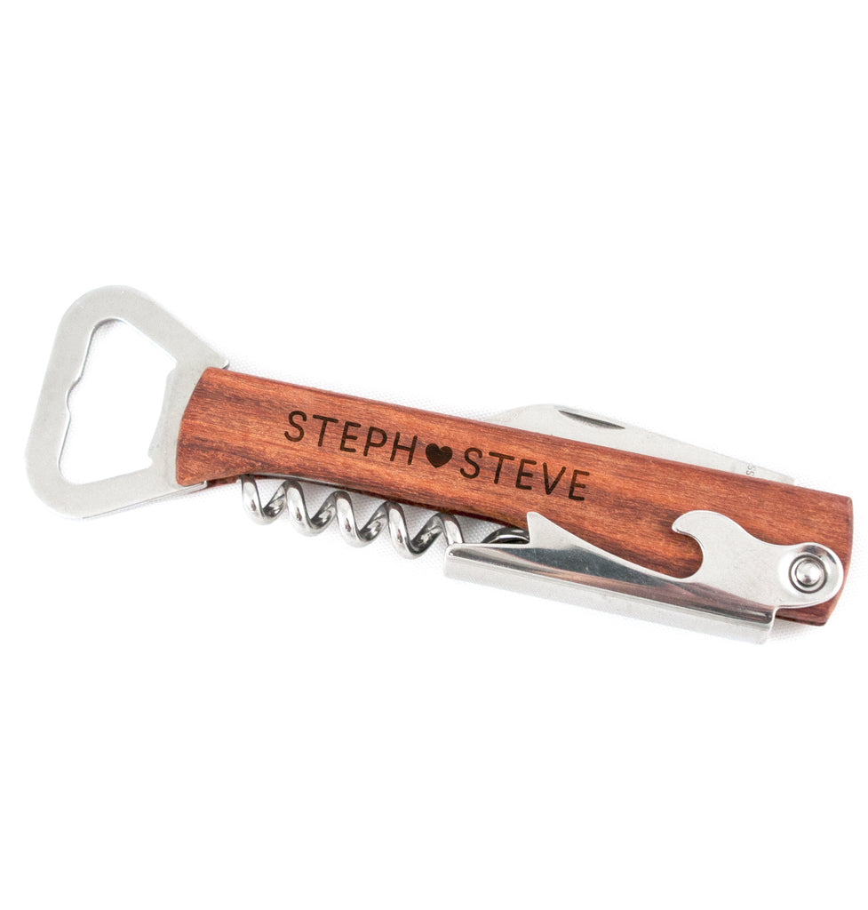 Bottle Opener and Wine Corkscrew - Loving You
