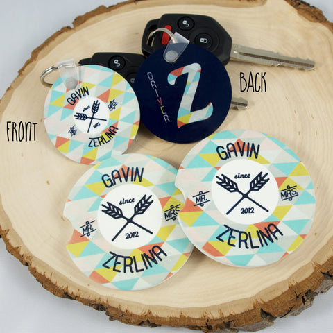 personalize auto accessories - car coasters and key chains