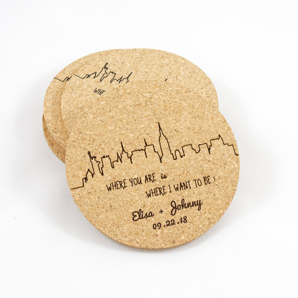 Personalized Coaster - Where You Are is Where I Want to Be