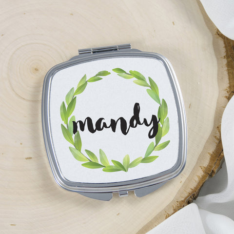 personalized compact mirror gift for her