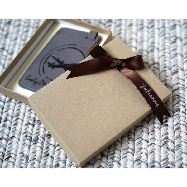 Plane Luggage Tag with gift box