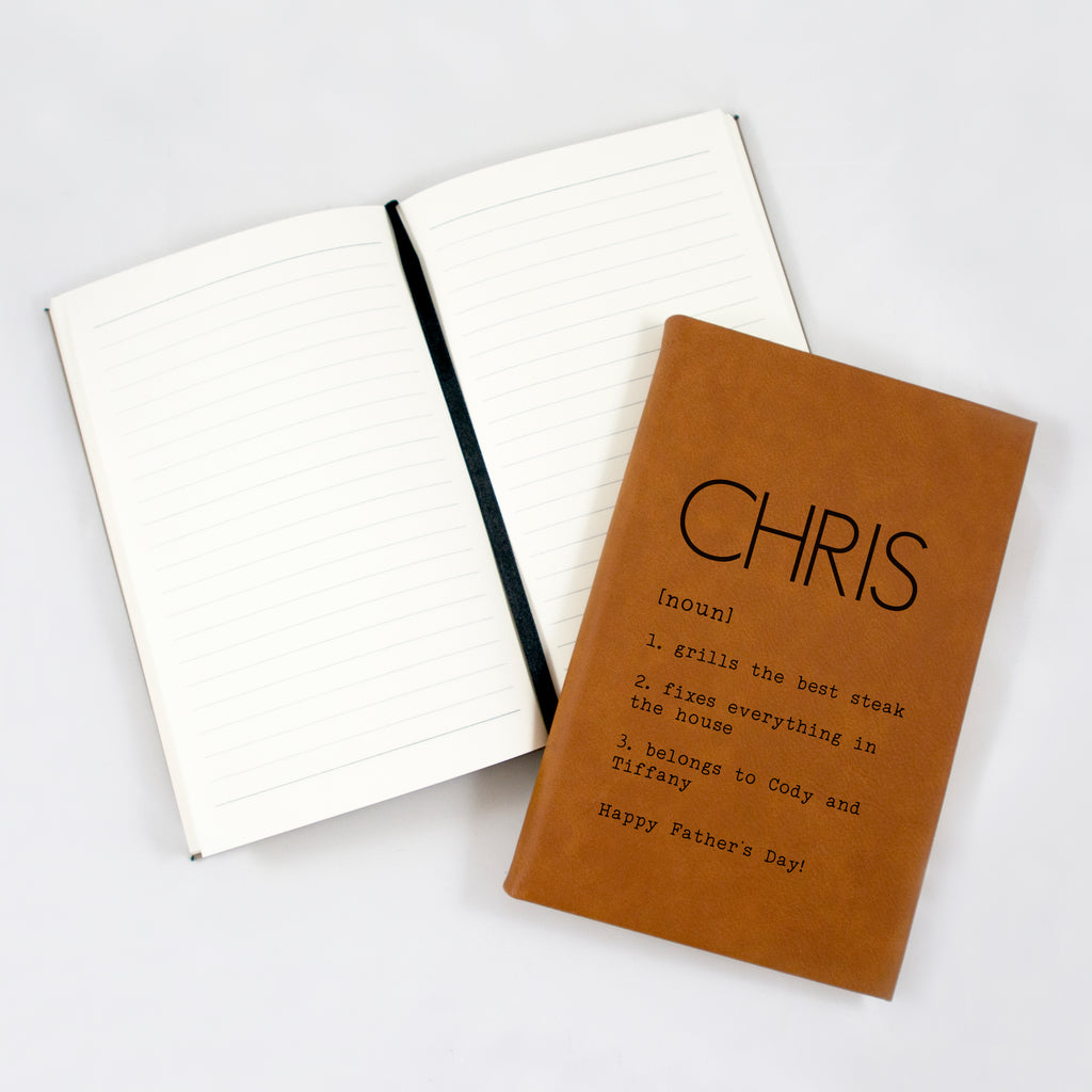 Personalized journal for dad