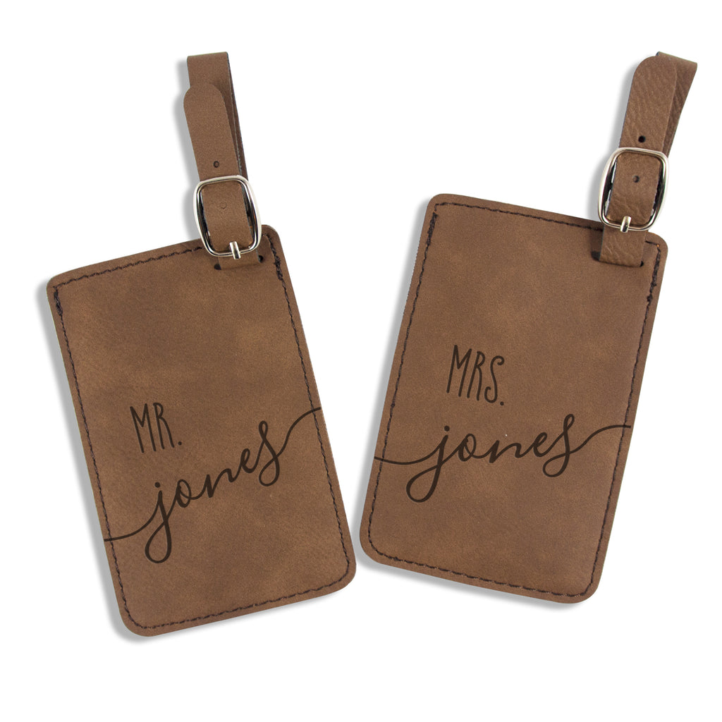 Personalized Couple Luggage Tags