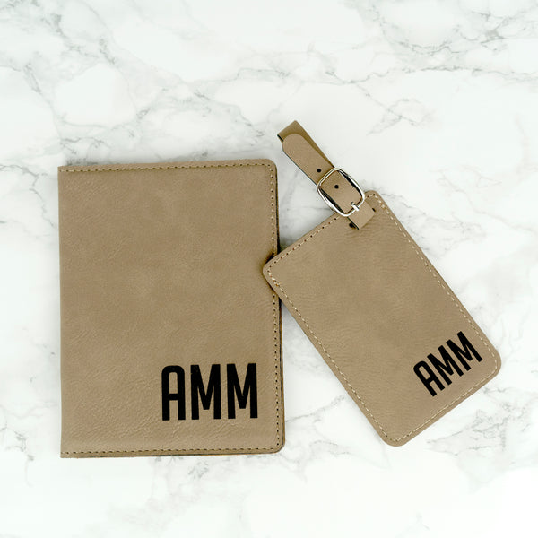 Personalized passport holder and luggage tag