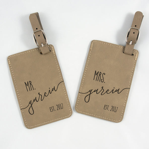 Couples' personalized luggage tag