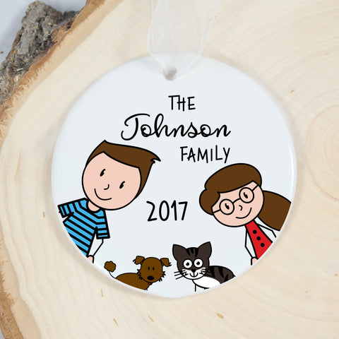 Personalized Ornament - We are family!