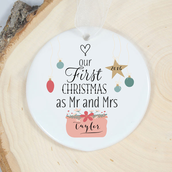 First Christmas Mr Mrs Ornament