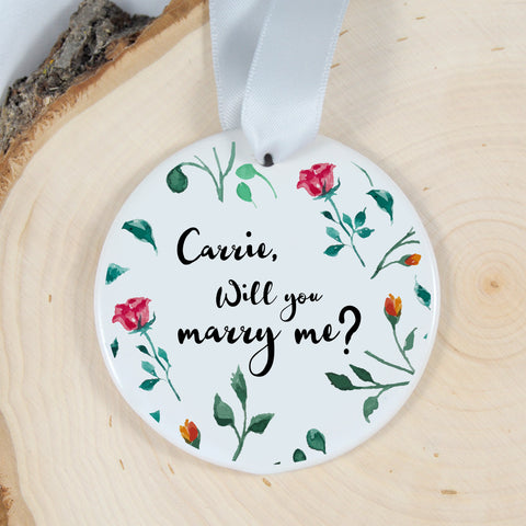 personalized proposal ornament