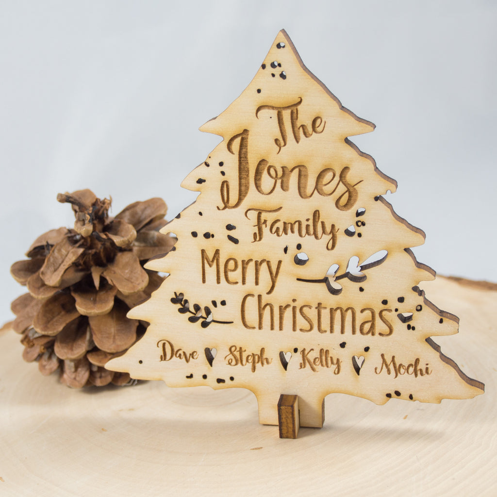 Standing Wood Christmas Tree