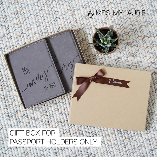 Personalized Passport Cover - Couple Gift