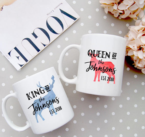 King and Queen Couple Coffee Mug