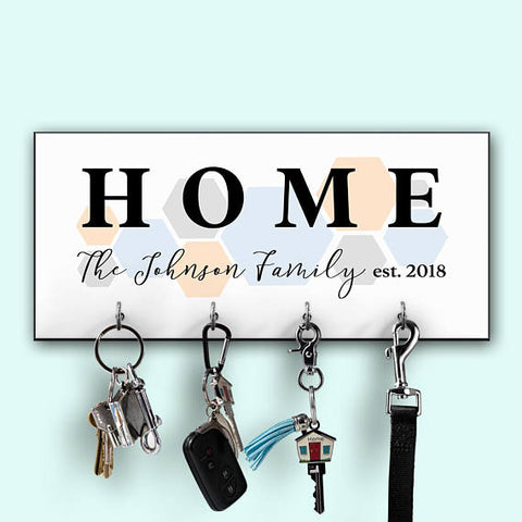 personalized key holder minimalist home