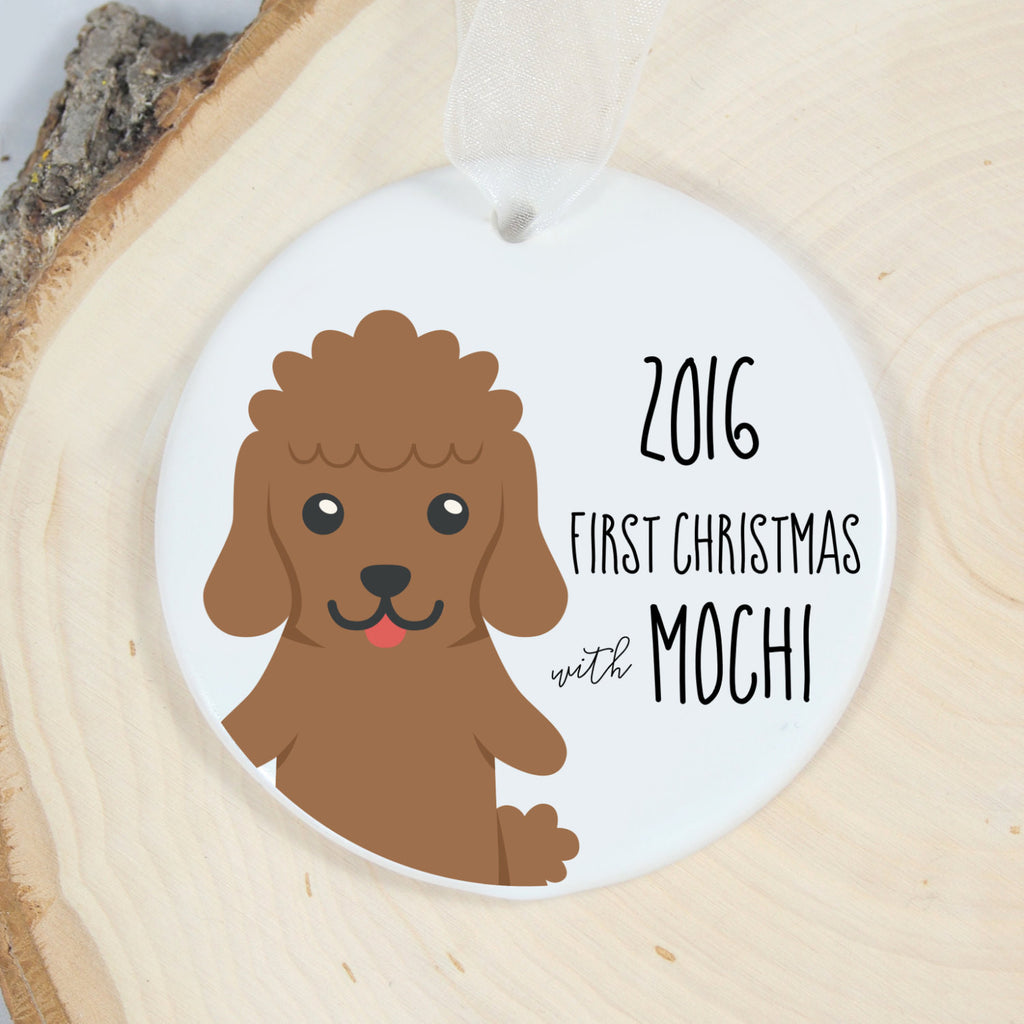 Poodle First Christmas Ornament