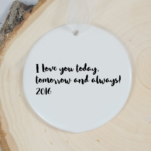 Personalized Ornament - We're Engaged