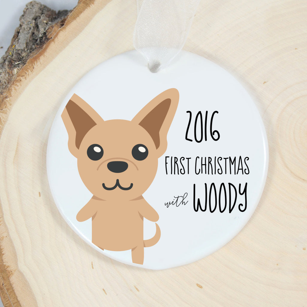 First Christmas Chihuahua Ornament
