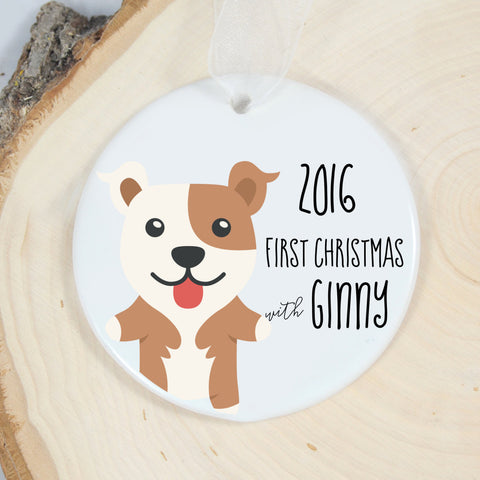Pitbull First Christmas Ornament