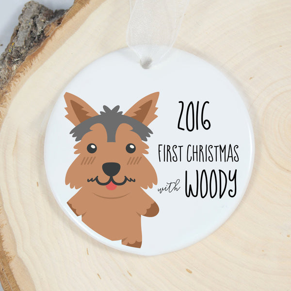 Yorkshire Terrier First Christmas Ornament