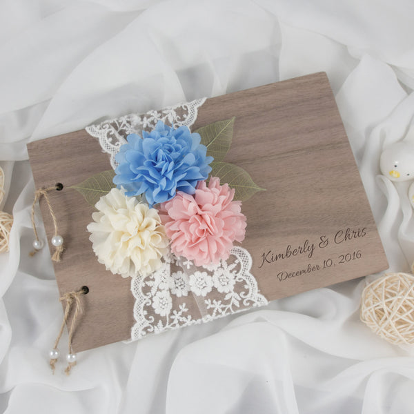 Rustic Personalized Guest Book
