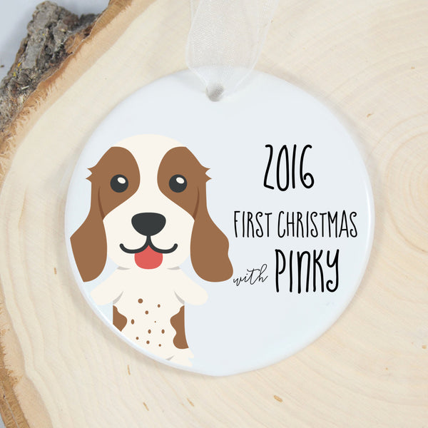 Springer Spaniel First Christmas Ornament