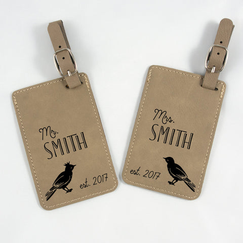 Personalized Couples' Luggage Tag