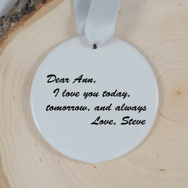 personalized couples christmas ornament