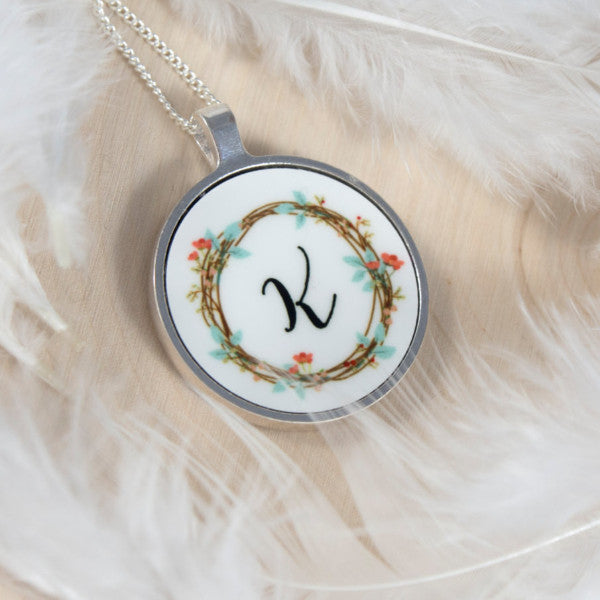 necklace with initial